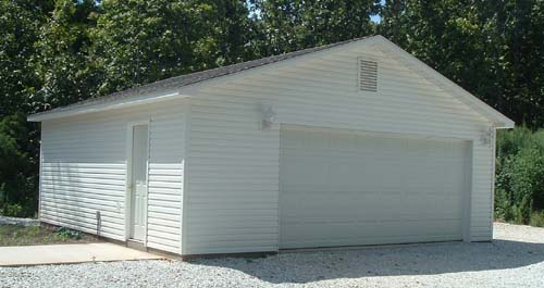 24x30 2 car garage good will builders inc for Pacchetto garage 24 x 30